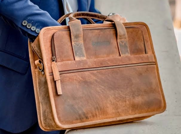leather briefcase bags manufacturer in De-Smet