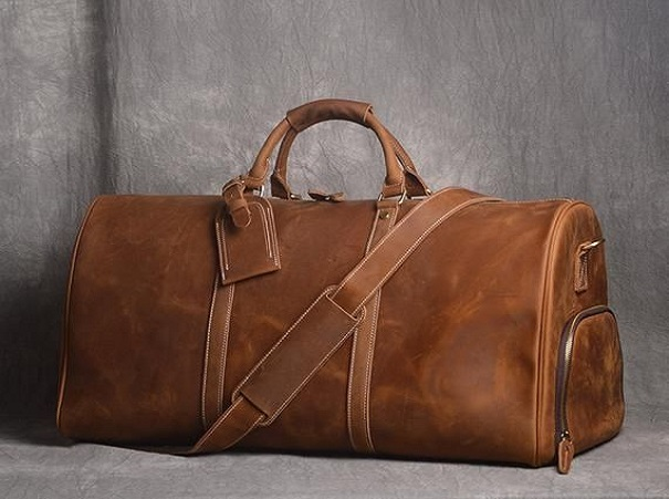 leather duffle bags manufacturer in Charlevoix