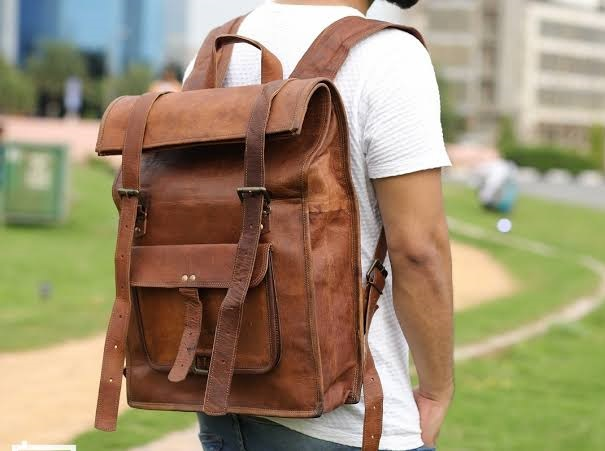leather backpack bags manufacturer in De-Land